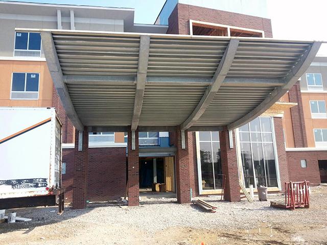 Steel Canopies & Steel Canopies Cleveland Ohio - Upright Steel Fabricators